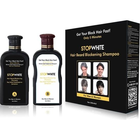 Stop White Saç Sakal Siyahlaştırıcı Şampuan 200 ml