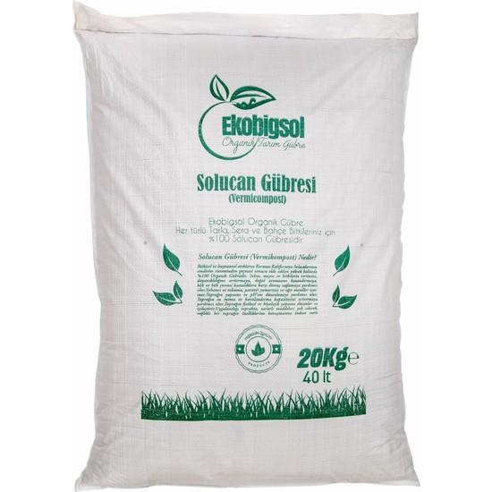 Ekobigsol %100 Organik Katı (Granül) Solucan Gübresi 20 kg