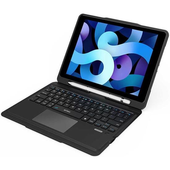Bizimgross Apple iPad Air 9.7 Inç Wiwu Keyboard Folio Kablosuz Wireless Wireless Klavyeli Tablet Kılıfı Siyah