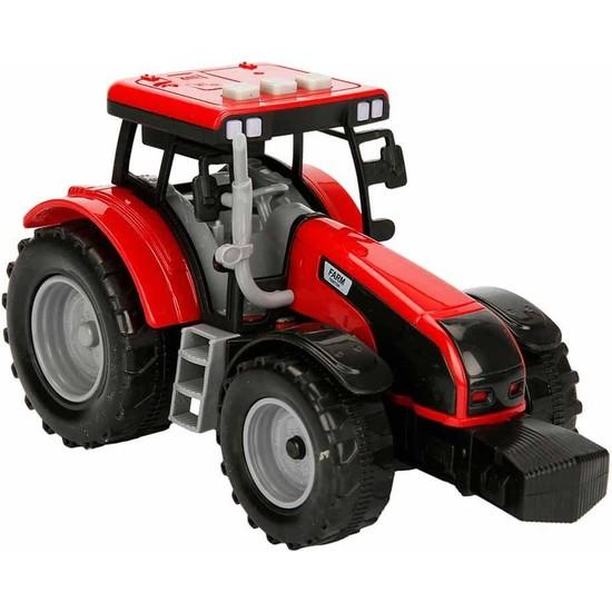 Maxx Wheels Sesli ve Işıklı Traktör 18 cm - Kırmızı