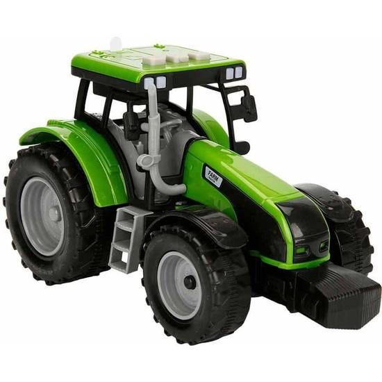 Maxx Wheels Sesli ve Işıklı Traktör 18 cm - Yeşil