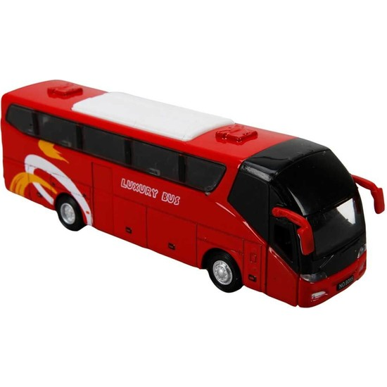 Maxx Wheels Sesli ve Işıklı Otobüs 19 cm - Kırmızı