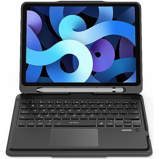 Wowlett Apple iPad 6.nesil 2018 9.7 Inç Wiwu Keyboard Folio Kablosuz Klavyeli Tablet Kılıfı