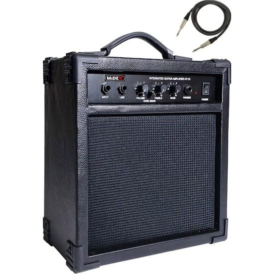 Midex High-10 Profesyonel Elektro Gitar Amfisi 10 Watt ( Jak Kablo Hediye)