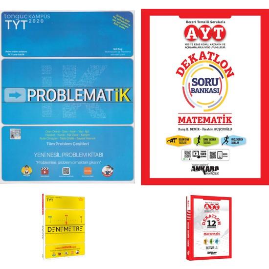 Tonguç TYT Matematik Problemler ve Ankara AYT Matematik Dekatlon Soru Bankası + Deneme