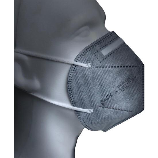 Maskevemaske Ldr 3002 Ffp2 Nr Gri Ventilsiz Solunum Makesi 10'lu