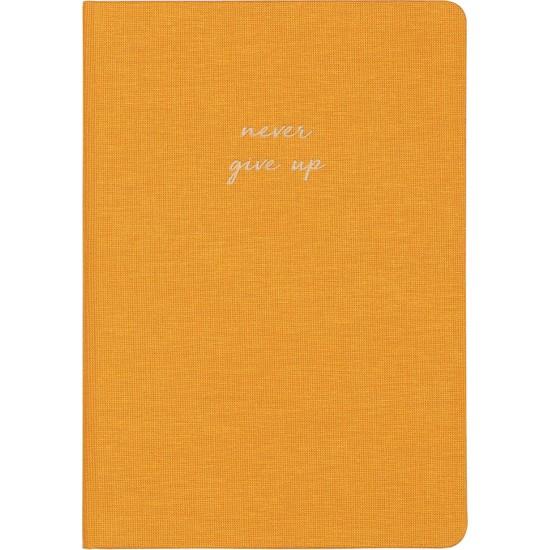 Matt Notebook Sert Kapak Defter Düz, Çizgisiz 14 x 20 cm Hardal