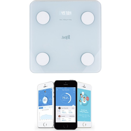 Techfit Yağ Kilo Ölçer Vücut Analizli Akıllı Bluetooth Tartı Baskül TF-1071