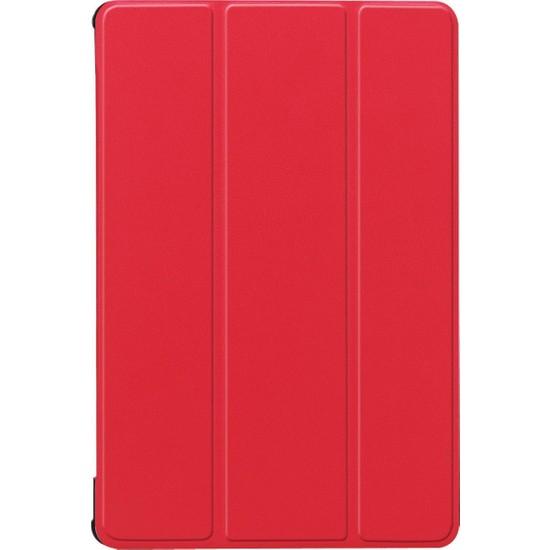 "MobaxAksesuar Huawei Mate Pad T8"" Kılıf PU Deri Smart Case Kırmızı"