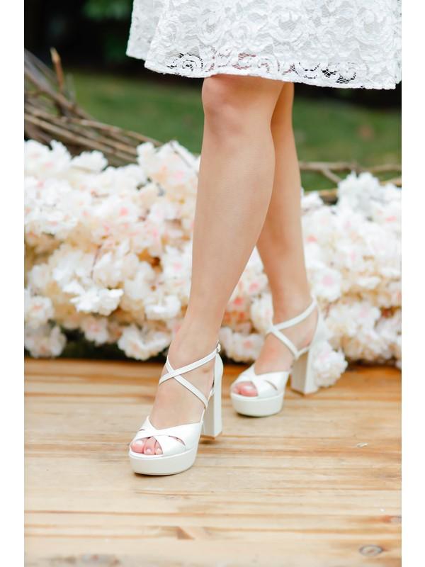 Gelinlik Ayakkabıcım Koşma Garantili 11 cm Gelin Ayakkabısı