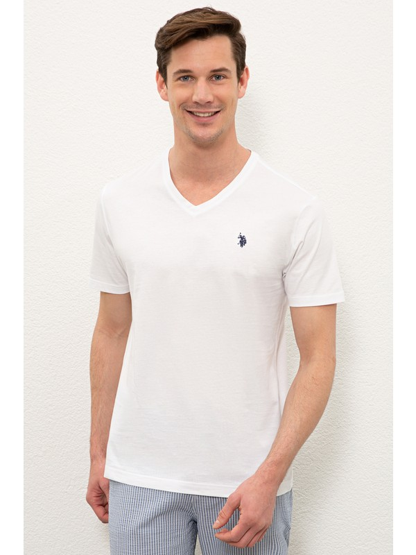 U.S. Polo Assn. Beyaz T-Shirt Basic 50232305-VR013