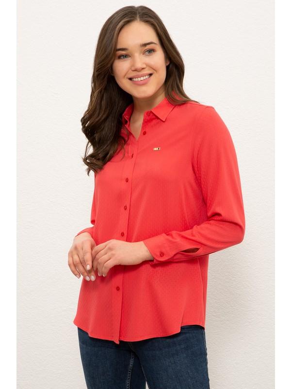 U.S. Polo Assn. Kırmızı Gömlek Uzunkol 50237981-VR030