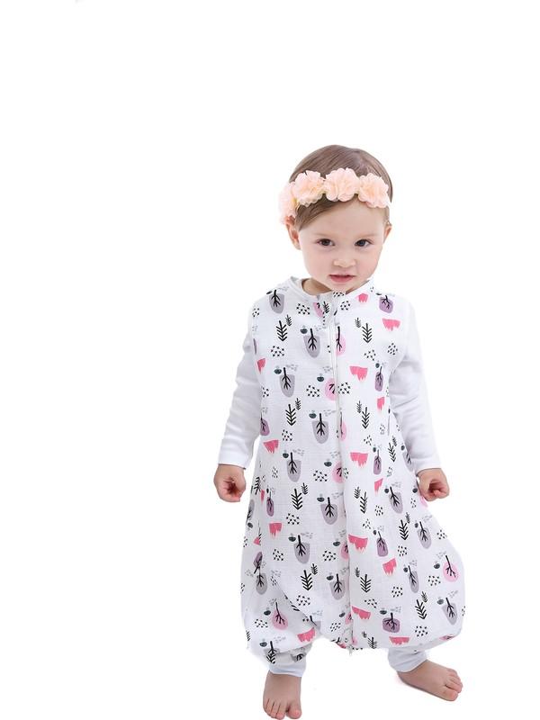 Çocuk Bebek Uyku Tulumu Oeko-Tex Sertifikalı Müslin 0,5 Tog