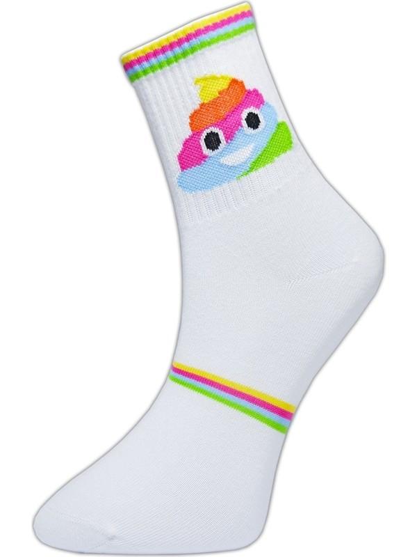 Cool Store Renkli Emoji Kolej Çorap