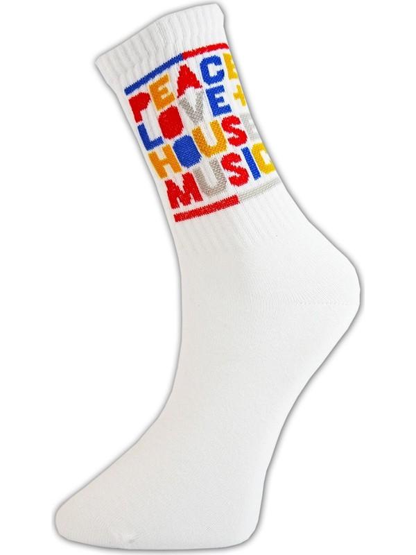 Cool Store Peace Love House Musıc Kolej Çorap