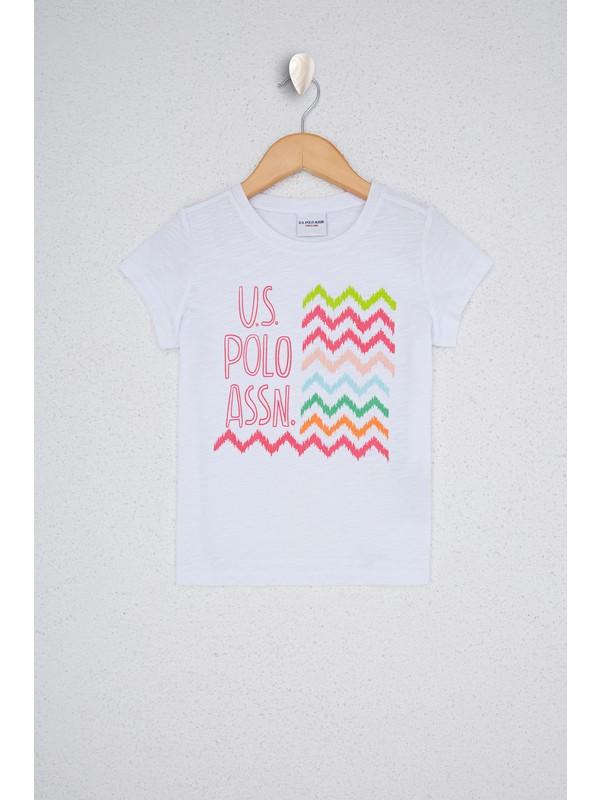 U.S. Polo Assn. Kız Çocuk Beyaz T-Shirt 50234820-VR013