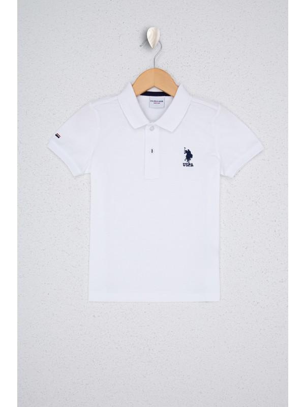 U.S. Polo Assn. Erkek Çocuk Beyaz T-Shirt Basic 50232279-VR013