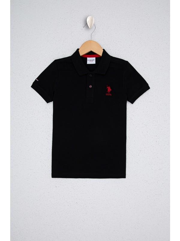 U.S. Polo Assn. Erkek Çocuk Siyah T-Shirt Basic 50232279-VR046