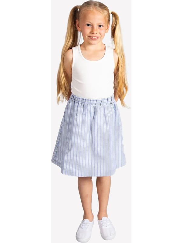 Ozmoz Açık Mavi Yazlık Kız Çocuk Etek