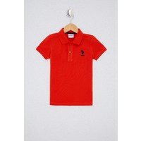 U.S. Polo Assn. Erkek Çocuk Kırmızı T-Shirt Basic 50232279-VR031