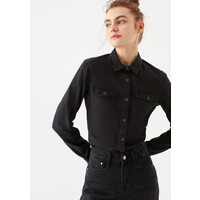 Mavi Kadın Isabel Vintage Siyah Jean Gömlek 1257127321