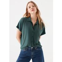 Mavi Kadın Lux Touch Düğmeli Modal Tişört 168081-28316