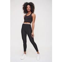Ecrou Kadın Siyah Yüksek Bel Toparlayıcı Bel Detaylı Sporcu Tayt
