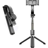 Coverzone Gimbal 3 Eksenli Kamera ile Telefon Sabitleyici Bluetooth Hareketli Selfie Çubuğu