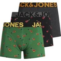 Jack & Jones 3'lü Desenli Boxer Paketi 12196509