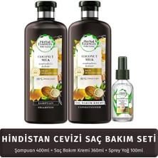 Herbal Essences Hindistan Cevizi Saç Bakım Seti (Şampuan + Krem + Bakım Yağı)
