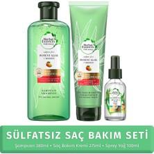 Herbal Essences Sülfatsız Saç Bakım Seti (Şampuan + Krem + Saç Bakım Yağı)