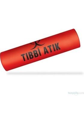Eldy Tıbbi Atık Çöp Poşeti 80 x 110 cm Kırmızı - 3 Rulo