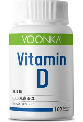 Voonka Vitamin D 102 Yumuşak Kapsül