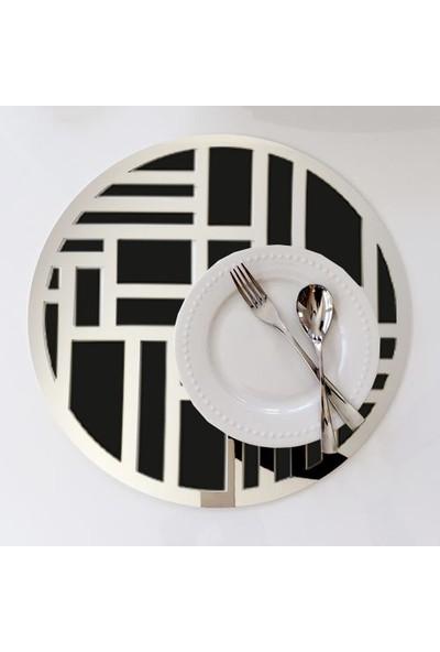 Walldeco Walldeco Amerikan Servisi Pleksi Siyah/gümüş Aynalı Supla