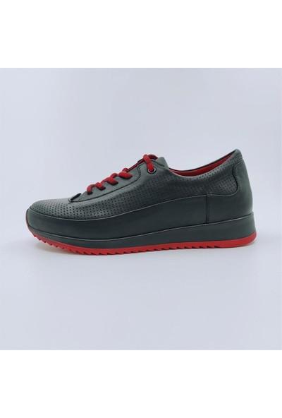 Mammamia D21YA-3105 Bağcıklı Deri Günlük Tarz Kadın Ayakkabı
