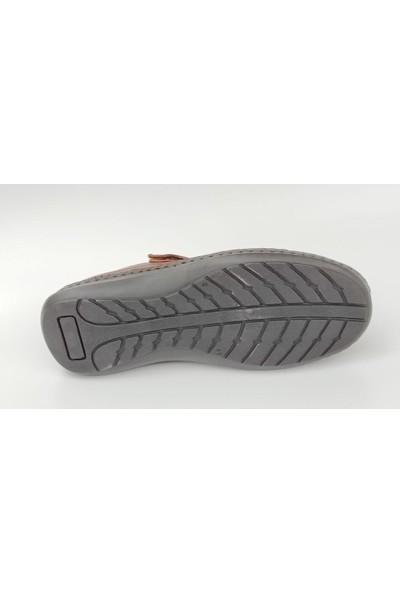 Komcero 9991 Cırtlı Deri Kafesli Erkek Ayakkabı