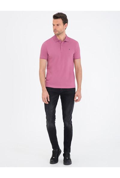 Pierre Cardin Gül Kurusu Slim Fit Basic Polo Yaka T-Shirt 50239843-VR026