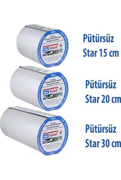 Bitüself Folyolu Oto Ses Su Yalıtım Bantı Bandı 10-15-20-30-60 cm Pütürsüz Star Model-15 cm