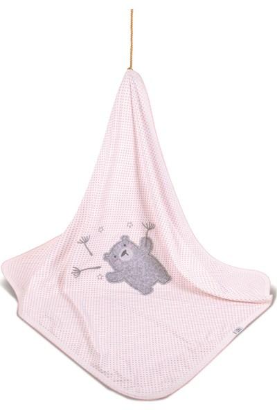 Bimini Pretty Teddy Kız Bebek %100 Pamuk Çok Amaçlı Battaniye
