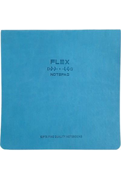 Gıpta Flex Ip Dikişli Deri Kapak Noktalı Defter Mavi