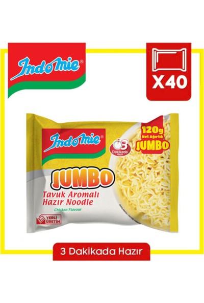 Indomıe Jumbo Tavuk Aromalı Hazır Noodle 120 gr x 40'lı Paket