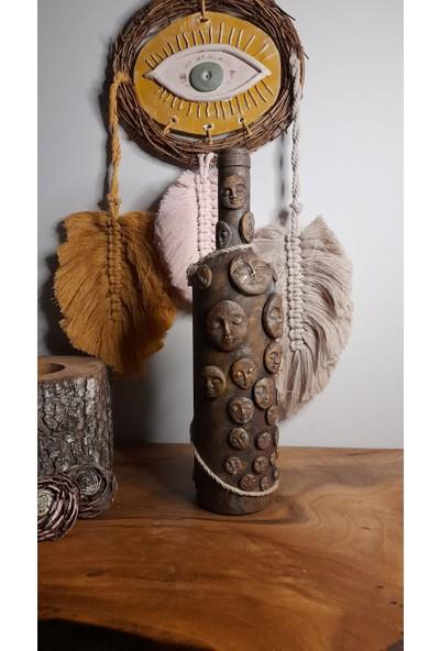 Mes Reves Design Dekoratif Şişe (Kuru Çiçek Için Vazo, Mum Için Şamdan Ya Da Yalnızca Dekor)