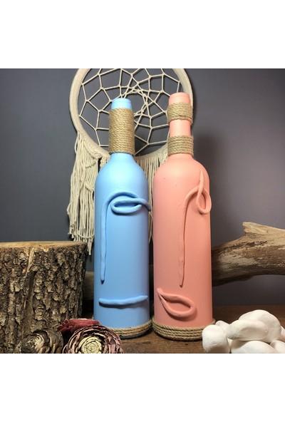 Mes Reves Design El Yapımı Dekoratif Şarap Şişeleri 2'li Set