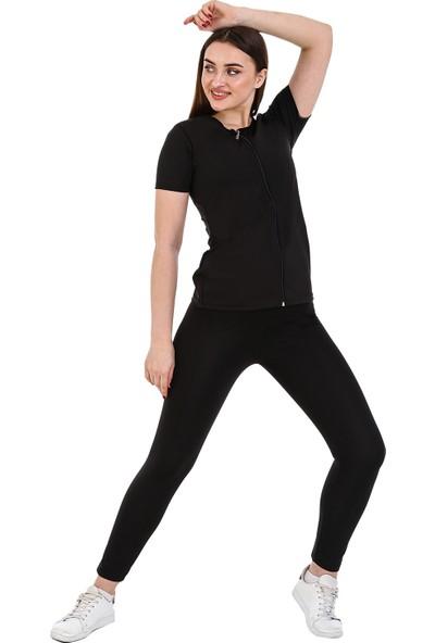 Giyincel Bayan Polymer Yarım Kol Fermuarlı Termal Body ve Uzun Termal Tayt