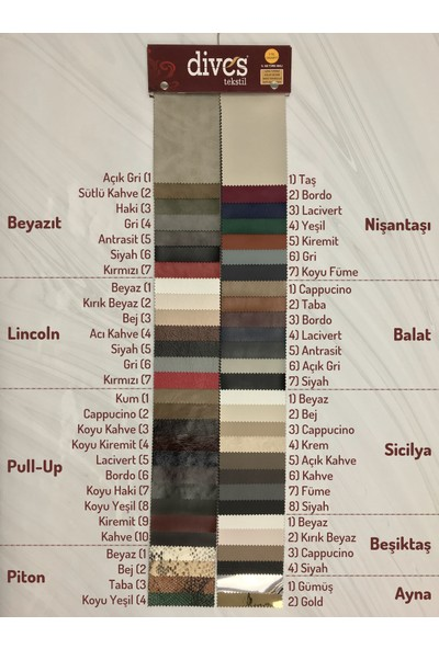Dives Tekstil Sicilya Premium 1. Kalite Döşemelik Suni Deri 8