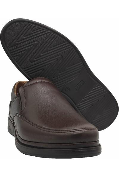 Ekinci 011 Hakiki Deri Comfort Kahve Ayakkabı
