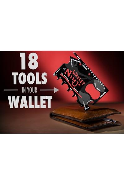 Turkish A2Z Kredi Kartı Şeklinde Bıçak ve Ninja Wallet 18 In 1 Credit Card Multi Tool Kit