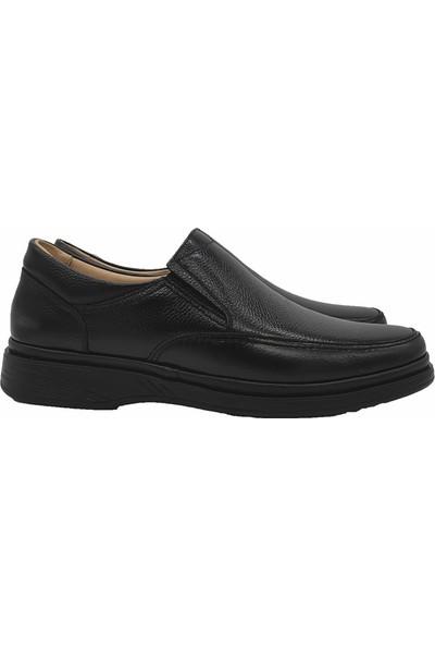 Ekinci 011 Hakiki Deri Comfort Siyah Ayakkabı