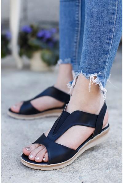 Classy Kadın Siyah Günlük Sandalet