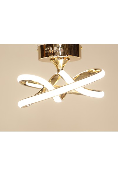 Luna Lighting Modern Luxury Şık Plafonyer LED Gold Ledli Avize